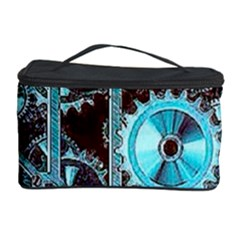 Steampunk Gears Turquoise Cosmetic Storage Cases