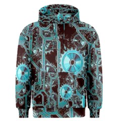 Steampunk Gears Turquoise Men s Pullover Hoodies