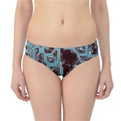 Steampunk Gears Turquoise Hipster Bikini Bottoms