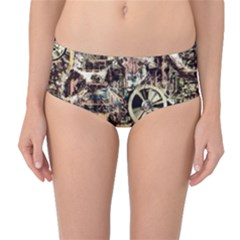 Steampunk 4 Soft Mid Waist Bikini Bottoms