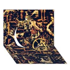 Steampunk 4 Circle 3D Greeting Card (7x5)