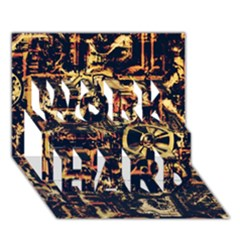 Steampunk 4 Work Hard 3d Greeting Card (7x5)