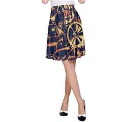 Steampunk 4 A-Line Skirts
