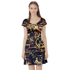 Steampunk 4 Short Sleeve Skater Dresses