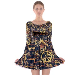 Steampunk 4 Long Sleeve Skater Dress