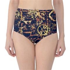 Steampunk 4 High-Waist Bikini Bottoms