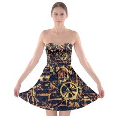 Steampunk 4 Strapless Bra Top Dress