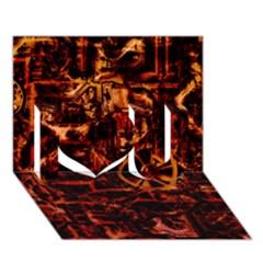 Steampunk 4 Terra I Love You 3D Greeting Card (7x5)