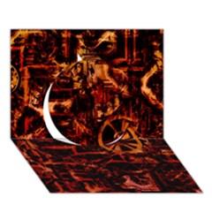 Steampunk 4 Terra Circle 3d Greeting Card (7x5)