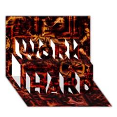 Steampunk 4 Terra WORK HARD 3D Greeting Card (7x5)