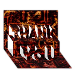 Steampunk 4 Terra THANK YOU 3D Greeting Card (7x5)