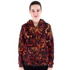 Steampunk 4 Terra Women s Zipper Hoodies
