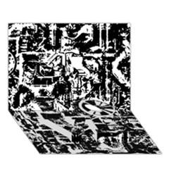Steampunk Bw LOVE Bottom 3D Greeting Card (7x5)