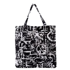 Steampunk Bw Grocery Tote Bags