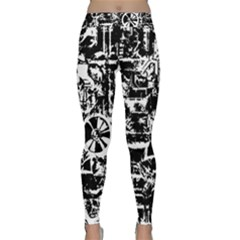 Steampunk Bw Yoga Leggings