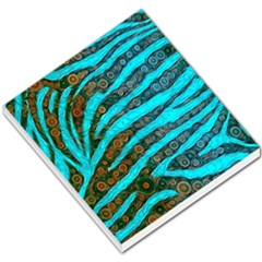 Turquoise Blue Zebra Abstract  Small Memo Pads