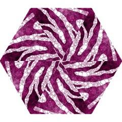 Purple Zebra Print Bling Pattern  Mini Folding Umbrellas