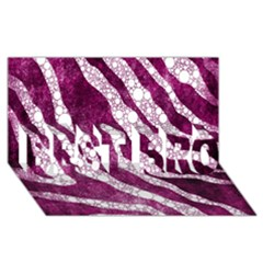 Purple Zebra Print Bling Pattern  Best Bro 3d Greeting Card (8x4)