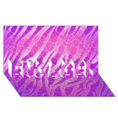 Florescent Pink Zebra Pattern  ENGAGED 3D Greeting Card (8x4)
