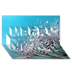 Dandelion 2015 0702 Merry Xmas 3d Greeting Card (8x4)