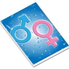 Sperm And Gender Symbols  Large Memo Pads