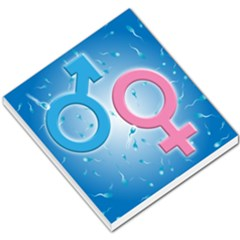 Sperm and Gender Symbols  Small Memo Pads