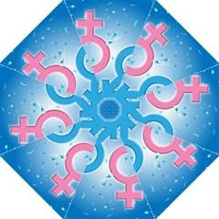 Sperm and Gender Symbols  Hook Handle Umbrellas (Large)