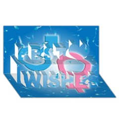 Sperm and Gender Symbols  Best Wish 3D Greeting Card (8x4)