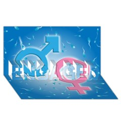 Sperm and Gender Symbols  ENGAGED 3D Greeting Card (8x4)