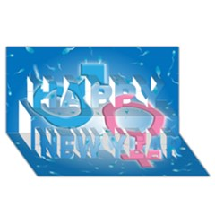 Sperm and Gender Symbols  Happy New Year 3D Greeting Card (8x4)