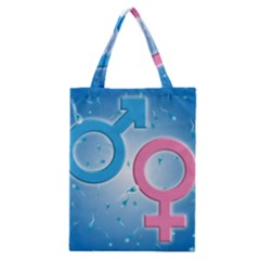 Sperm and Gender Symbols  Classic Tote Bags