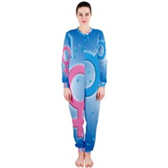 Sperm and Gender Symbols  OnePiece Jumpsuit (Ladies)