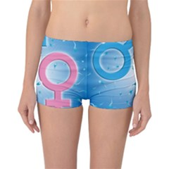 Sperm and Gender Symbols  Reversible Boyleg Bikini Bottoms