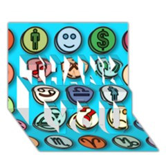 Emotion Pills Thank You 3d Greeting Card (7x5)