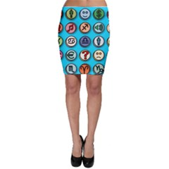 Emotion Pills Bodycon Skirts
