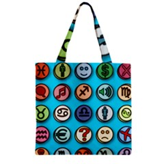 Emotion Pills Zipper Grocery Tote Bags
