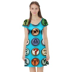 Emotion Pills Short Sleeve Skater Dresses