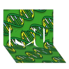 DNA Pattern I Love You 3D Greeting Card (7x5)