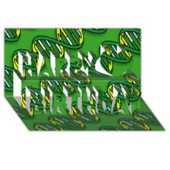 DNA Pattern Happy Birthday 3D Greeting Card (8x4)