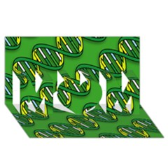 DNA Pattern MOM 3D Greeting Card (8x4)