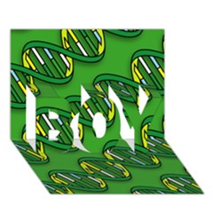 DNA Pattern BOY 3D Greeting Card (7x5)