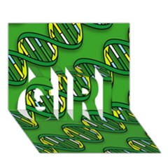 DNA Pattern GIRL 3D Greeting Card (7x5)