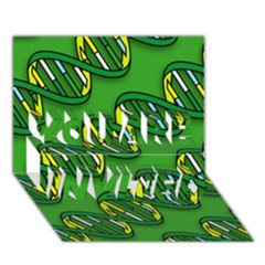 Dna Pattern You Are Invited 3d Greeting Card (7x5)