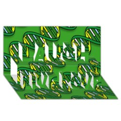 DNA Pattern Laugh Live Love 3D Greeting Card (8x4)