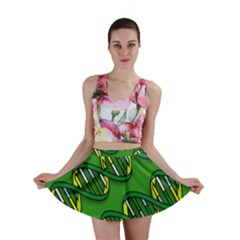 Dna Pattern Mini Skirts