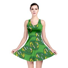 DNA Pattern Reversible Skater Dresses
