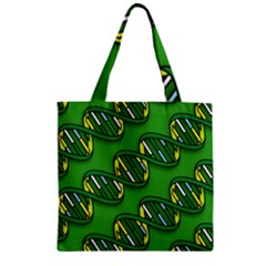 DNA Pattern Zipper Grocery Tote Bags