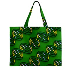 DNA Pattern Zipper Tiny Tote Bags