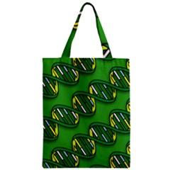 DNA Pattern Zipper Classic Tote Bags