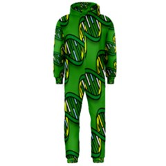 DNA Pattern Hooded Jumpsuit (Men)